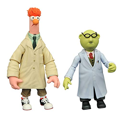 DIAMOND SELECT TOYS The Muppets Best of Series 2: Bunsen Honeydew & Beaker Action Figure Two-Pack, Multicolor