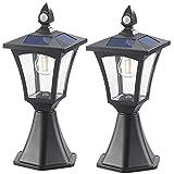 Royal Gardineer Lampen Garten: 2er-Set Solar-LED-Stand- & Wandlaternen, PIR-Sensor, 300 lm (Solar-Laternen außen)