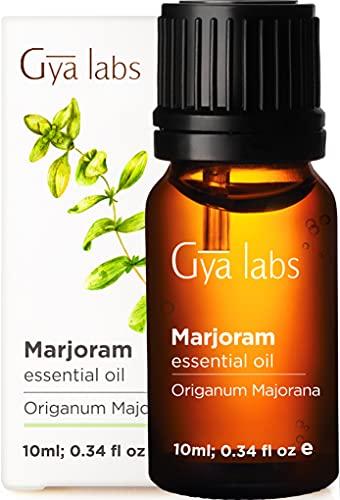 Aceite esencial de mejorana de Gya Labs para aliviar el estrés y el dolor - Bueno para dolores de cabeza y sueño - Grado terapéutico 100% puro para aromaterapia - 10 ml