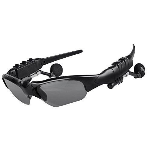 Cideros Wireless Bluetooth Headphones Sunglasses Stereo Earphone Headset Handsfree Music Sun Glasses for iPhone 6 Plus 6S Plus 5S 5 Samsung Galaxy S6 Edge S5 S4 Note 5 4 3 Ipad 4 3 2 Ipad Mini