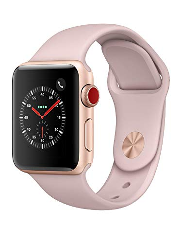 Apple Watch Series 3 38mm (GPS + Cellular) - Cassa In Alluminio Color Oro Con Cinturino Sport Rosa...