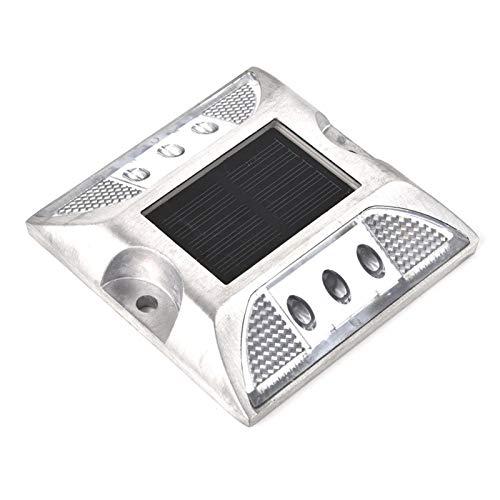 Gaeirt Diseño de energía Solar con Ahorro de energía, Luces de Entrada, 6 Luces LED de señalización de Tierra de energía Solar, para Entrada