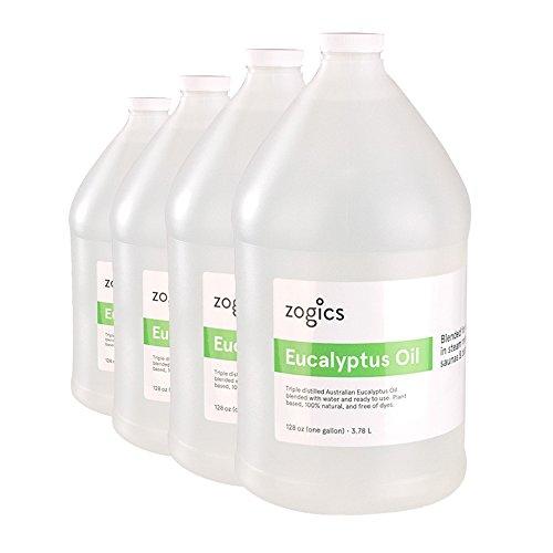 Zogics Eucalyptus Steam Room Spray (4 Gallons/Case)