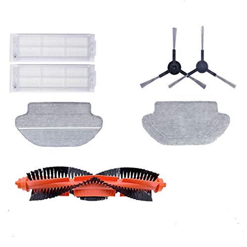tellaLuna para Mijia V2 STYJ02YM (Viomi Vacuum Mop) Robot Partes de aspirador principal cepillo lateral filtro