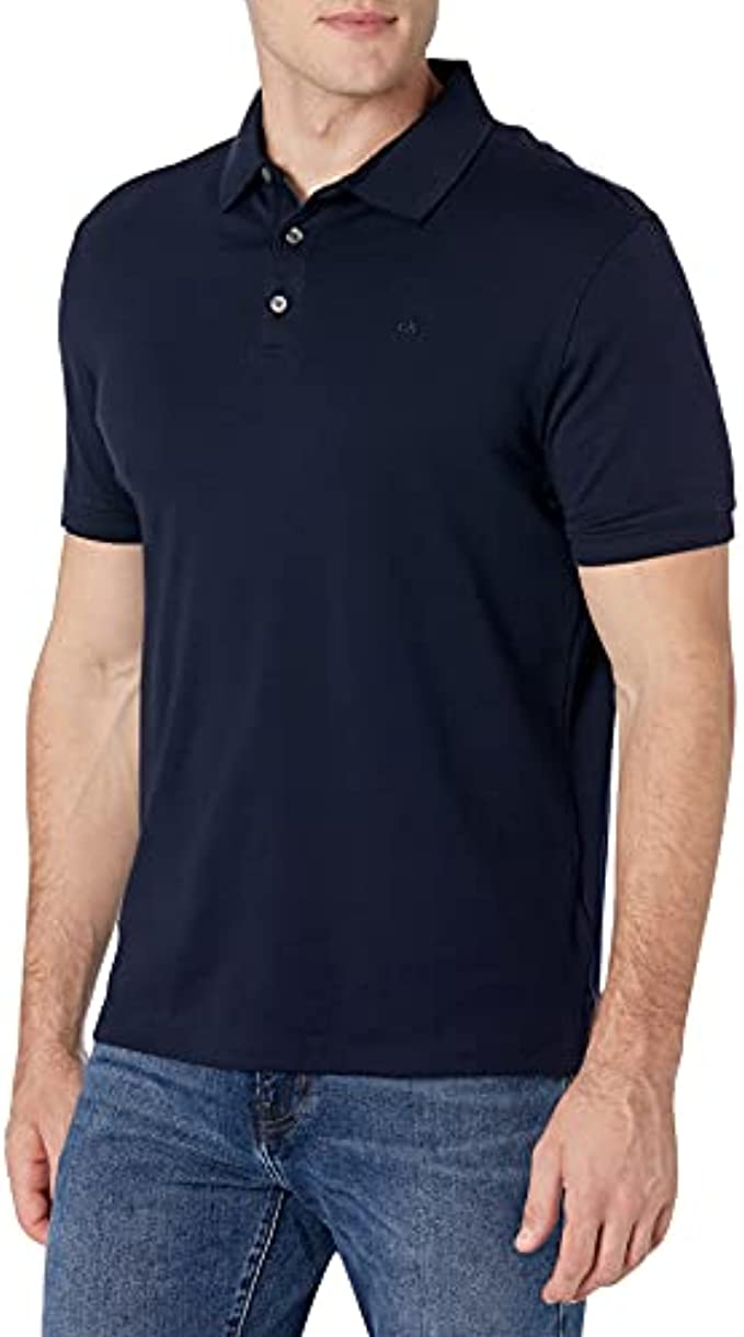 Calvin Klein Men's Liquid Touch Polo Solid with Uv Protection
