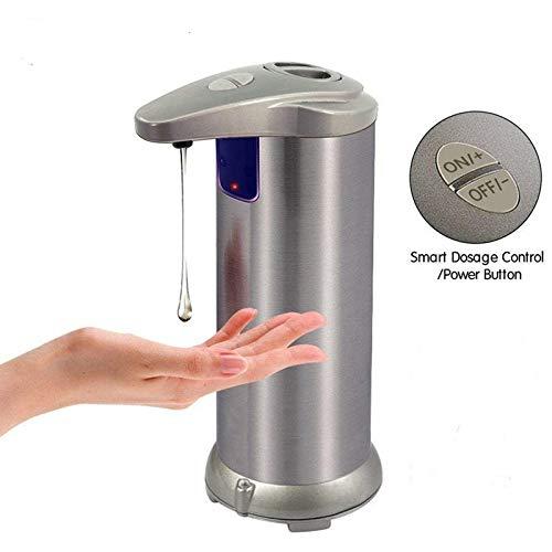 4YANG Dispensador automático de jabón, dispensador de desinfectante de Manos sin Contacto, Sensor de Movimiento infrarrojo, Adecuado para baño, Cocina, Restaurante del Hotel, Champagne Gold