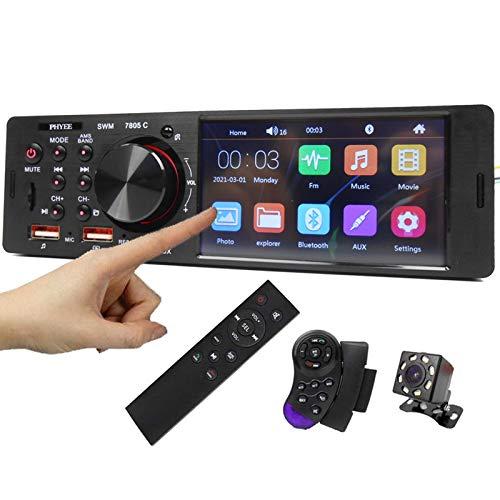 ALLWIN Radio de automóvil 1 DIN 4.1'Bluetooth Audio Video Touch Pantalla táctil Reproductor de MP5 TF USB Carga RÁPIDO ISO Sistema Remoto Sistema STEME
