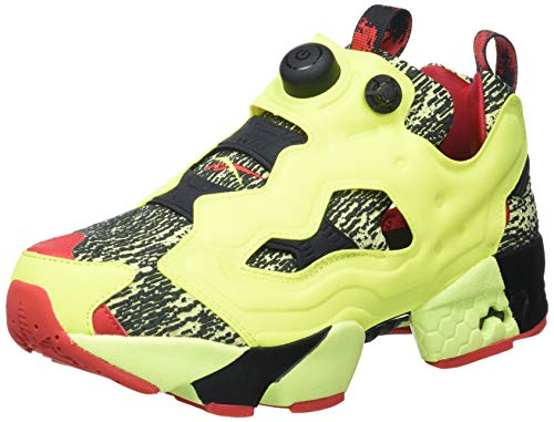 Reebok Instapump Fury OG, Zapatillas Deportivas Unisex Adulto, Night Black Yellow Flare Vector Red, 39 EU