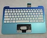 SZYJT New Laptop US Keyboard for HP Stream 11-d 11-d011wm 11-D010WM 11-D010NR 11-D020NR 11-D060SA 11-D060SA Upper Cover palmrest 792906-001 794447-001 White 11-inch