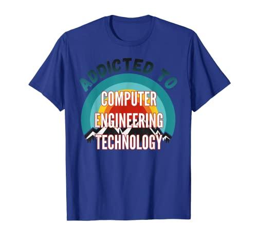 Adicto a la Ingeniería Informática Tecnología College Mayor Gi Camiseta