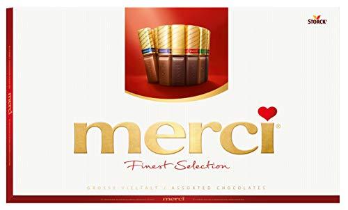 Celebration Chocolate | Merci | Selezione più raffinata 8 Diverse specialità al cioccolato | Peso totale 400 grammi