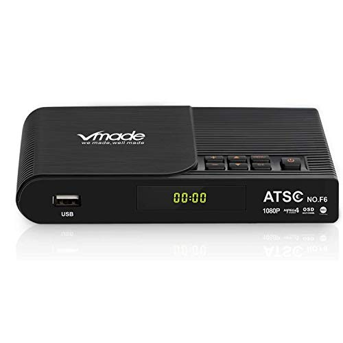 Vmade ATSC-F6 HDTV Digital Converter Tuner Box for 1080P Analog TV, Support HDMI Out/ Recording/ USB...