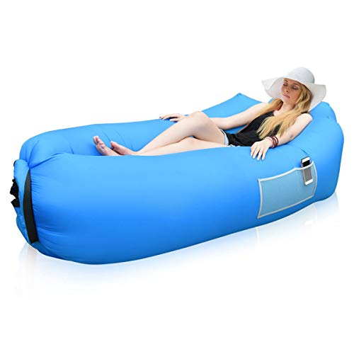 Siphly Inflatable Lounger, Air Sofa Hammock with Headrest, Waterproof & Anti-Air Leaking, Comfortable Inflatable Couch for Pool & Beach Parties, Traveling Camping Picnics & Backyard, Music Festivals