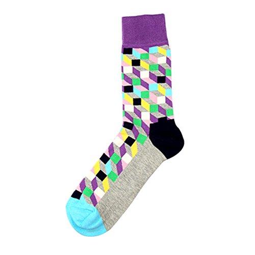 TININNA 1Paire Chaussettes Haute de Treillis Classique Homme Bas de Contention Long Socks Basse Socquettes Elasticité Sport Originales Semelle #1