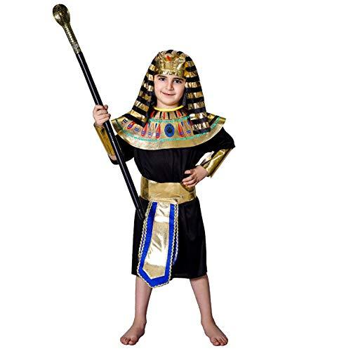 SEA HARE Disfraz de Faraón Egipcio para Niño (M:7-9 años)