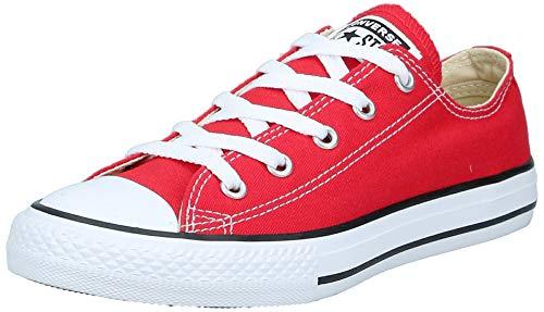 Converse Chuck Taylor All Star Core Ox Scarpe Sportive, Unisex Bambino, Blanco-Rojo, 35 EU