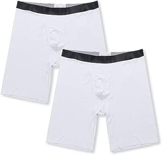 "Y2Y2 2-Pack Men's Modal Underwear 9"" Long Leg Boxer Briefs"