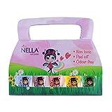Miss Nella Spring It On Special - 5er Pack Kinder Nagellack mit Peel-off-Formel auf Wasserbasis Non-Toxic - Nagellack für Kinder