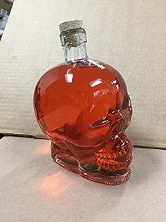 Skull Head Glass Decanter,850ml Whiskey Bottles 1