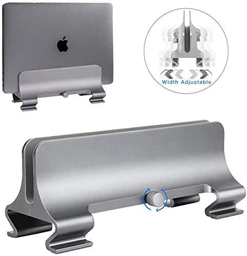 Verticale Laptop Tablet Stand [Verstelbare Grootte],SunBox Verstelbare Laptop Houder Desktop Stand met Compatibel Alle MacBook/Oppervlakte/Lenovo/Dell/Gaming Laptops(Tot 17,3 inch)