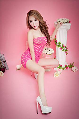 Bodysuits voor damesErotische kostuums voor dames Lingerie voor dames Erotische lingerie voor dames Gewikkelde borst Ooguitsnijding Slim Fit Slim Apparel Rose Red_One Size