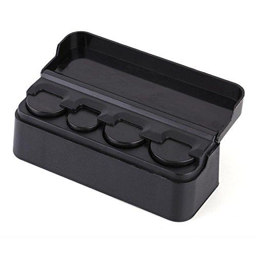 Portamonedas para coche, caja de almacenamiento portátil de plástico para coche, caja de almacenamiento para monedas, organizador de monedas