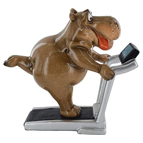 Prezents.com Lustiges Nilpferd auf dem Laufband.