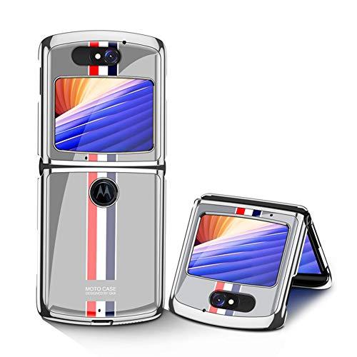 MingMing Hülle für Motorola Razr 5G Hardcase Stoßfest Schutzhülle PC + 9H Gehärtete Glasabdeckung, Superdünne handyhülle für Motorola Razr 5G, Limitierte Auflage