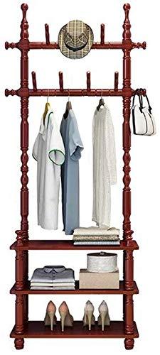 YLCJ kledingrek, met 3 vakken, voor kleding, ingang, slaapkamer, 11 organizer voor haken (kleur: 01, afmetingen: 60 x 29 x 176 cm)
