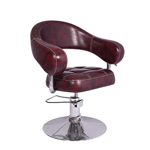 YGGB professionele kappersstoel, hydraulische bedieningsstoel en in hoogte verstelbare kappersstoel met voetsteun (bruin)