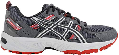 ASICS Men's Gel Venture 5 Trail Running Shoe, Castle Rock/Silver/Fiery Red, 11.5 M US