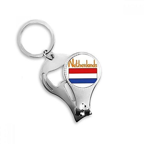 Nederland Nationale Vlag Patroon Sleutelhanger Ring Teen Nagel Clipper Snijder Schaar Gereedschap Kit Flesopener Gift