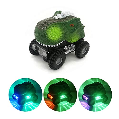 Dinosaur Toys for 3 Year Old Boys, Automatic Dinosaur Car Toys for 2 3 4 5 6 Year Old Boys Girls Kids, Stocking Stuffers for Kids, Dino Toy Gift for Birthday / Christmas - Random Color (Tyrannosaurus)