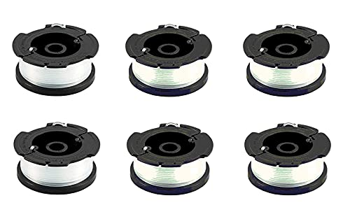 6 Pack A6481 Thread Spool for Black + Decker Grass Trimmer, 1.5 mm in Diameter, 10 m Length, Thread Spools for ST5530/CM,ST1823/20,1820CM/PC/PCB/PST/EPC