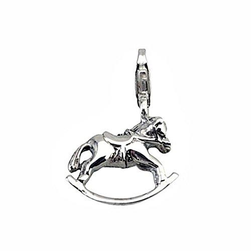 925m Silber Charm-Anhänger Law Wippe Pferd [5334]