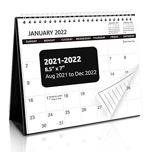 SKYDUE Small Desk Calendar 2021-2022, Stand Up...