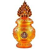 J-Clock Decoraciones Feng Shui para el hogar Adorno Botella Budista Tibetano, Ocho esculturas religión auspiciosas para Acuario Mani Zen Lotus