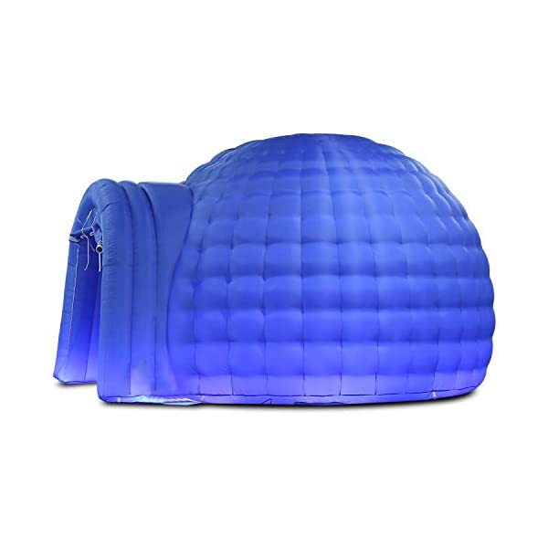 SAYOK Inflatable Igloo Dome Tent with Air Blower(4m Dia, Blue) Inflatable Event Dome for Party Wedding Business Private…