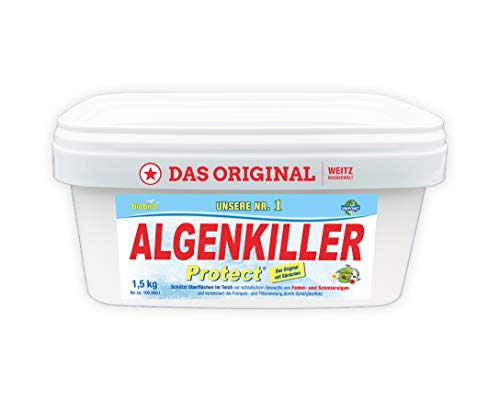 Algenkiller Protect® - Wasserpflege für Garten- und Schwimmteiche (1,5 kg - für max. 100.000 Liter) …