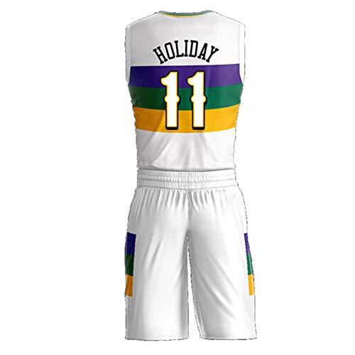 Camiseta de Verano de Baloncesto para Hombres, Williamson 1, Hart 3, Balón 2, Vacaciones 11, Camiseta de Baloncesto de Verano Ingram 14, para Camisetas y Pantalones Cortos de Uniforme Pelican Fan EDI