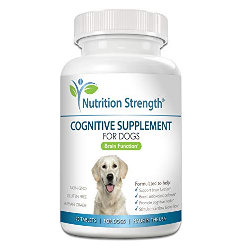 Nutrition Strength Cognitive Support for Dogs, Promotes Dog Brain Health, Mental Support for Old Dogs, Supplement for Dogs with Cognitive Difficulties, 120 Chewable Tablets