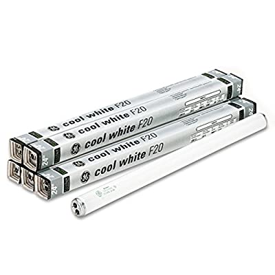 GE 80046 24-Inch Fluorescent Tubes, 20 Watts, 6/Pack