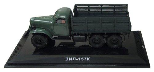 DIP 1/43 ZIL-157K 1961 (sans treuil) vert fonc? (japon importation)