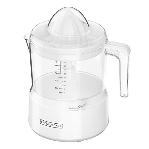 BLACK+DECKER 32oz Citrus Juicer, White, CJ650W,Small