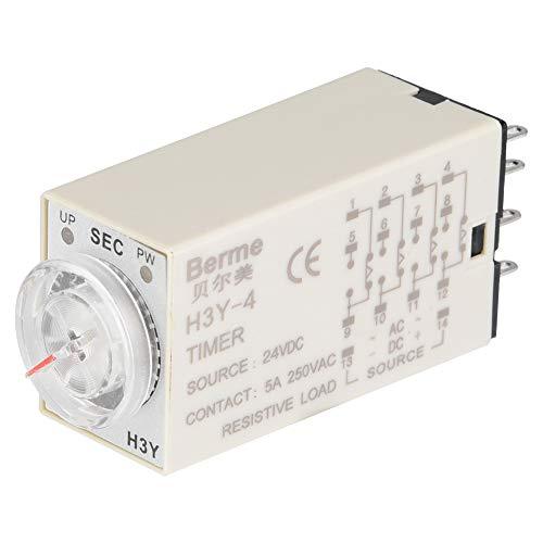 LDDLDG Retraso Tiempo Interruptor De Control De Control De Control De Control De Control De Control De Control De Retraso H3Y-4 24 Pin 24VDC 30S