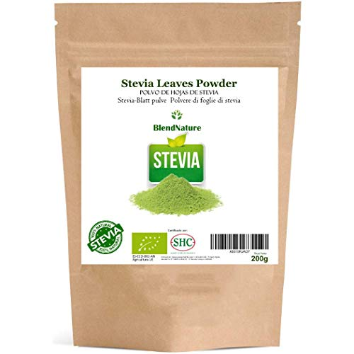 Stevia en Polvo Ecologica Pura 100% Natural 200Gr. – Hojas Seleccionadas Premium.
