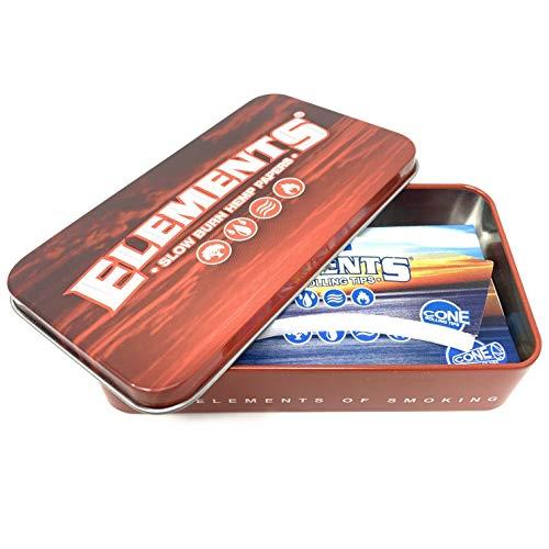 Elements - Scatola di latta per tabacco, colore: Rosso