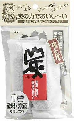 日本漢方研究所 備長炭 飲料・炊飯用 不織布2本入
