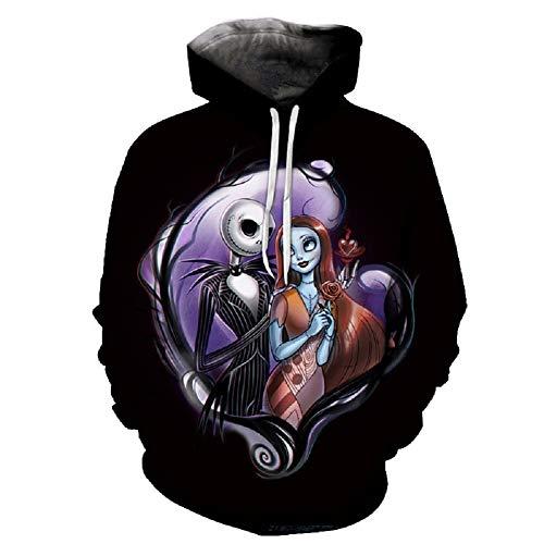 Jack Sally Hoodie Nightmare Cosplay Christmas Costume Carton Sweatshirt Jacket Unisex Coat L