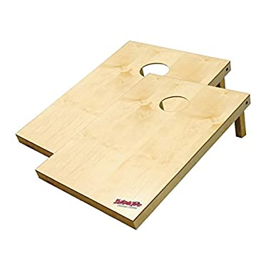 Wild Sports 2'x3'x2 Solid Wood Platinum Cornhole Set